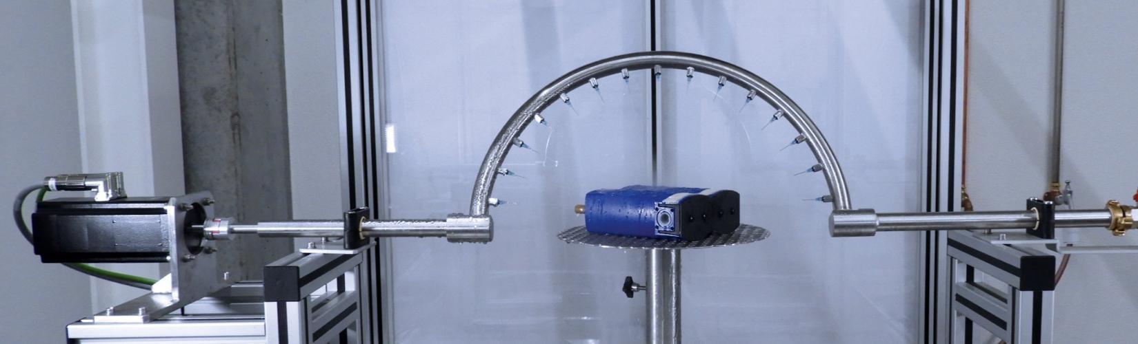 Wassertest mit Prüfling
