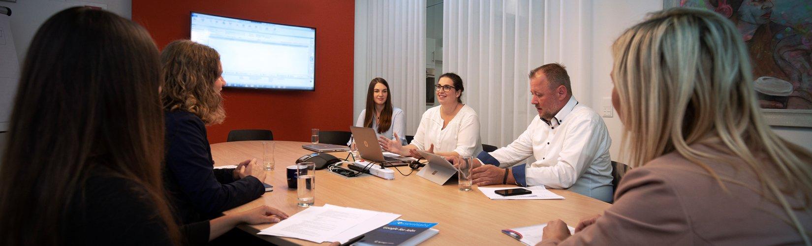 HR-Team bei der Besprechung