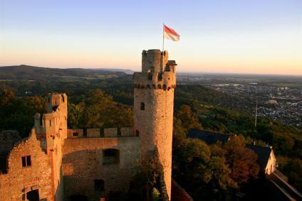 Blick aufs Auerbacher Schloss und die Bergstraße