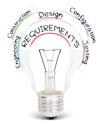 Engineering services are coordinated via requirements management