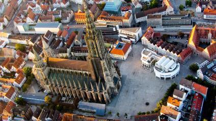 Aerial view of Ulm Minster